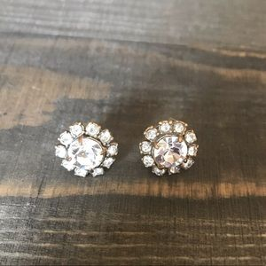 J Crew Rhinestone Stud Earrings